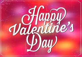 Bright Bokeh Valentine's Day Vector Background