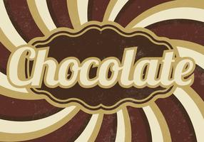 Vintage Chocolate Sunburst Vector Background