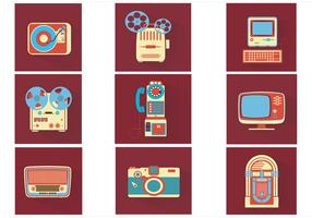 Vintage Electronics Vector Pack
