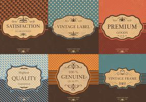 Vintage Label Vector Background Pack