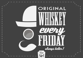 Hipster Whiskey Vector Background