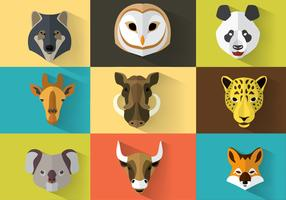 Wild Animal Vector Portraits