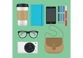 Hipster Girl Vector Items