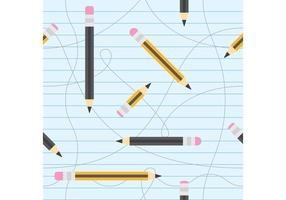 Pencils Vector Pattern