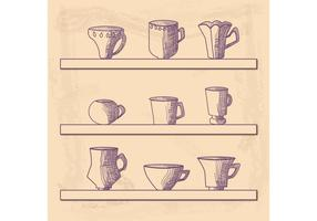 Hand Drawn Cup Vector