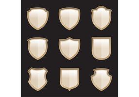 Gold Heraldic Shield Vectors