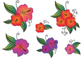 Free Vector Polynesian Flowers