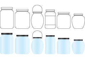 Mason Jar Vectors