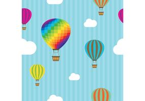 Hot Air Balloon Vector Pattern