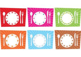Seasonal Dinner Table Setting Vector