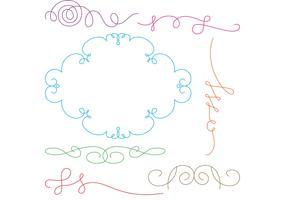 Curly Swirl Vectors