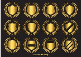 Golden Crest Vector Emblems