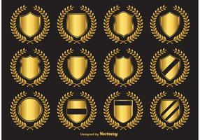 Golden Crest Vector Emblems