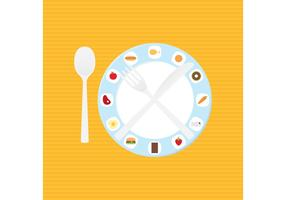 Dish And Food Dinner Table Setting Vector