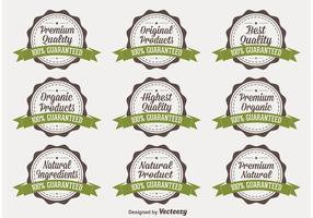 Organic Quality Vector Badges
