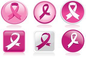 Breast Cancer Rbbon Vector Pack