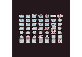 Colorful Laundry Vector Icons