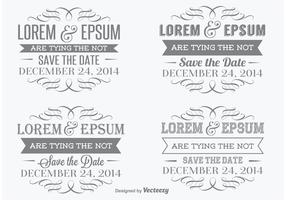 Save The Date Vector Labels