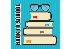 Back To School Stack of Books Vector