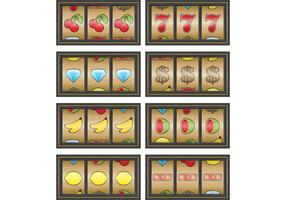 Gold Slot Machine Vectors