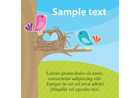 Bird in Nest Vector Home