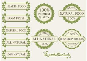 Organic Products Labels and Badges
