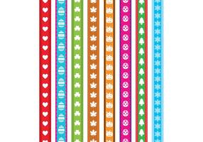 Holiday Ribbon Vectors