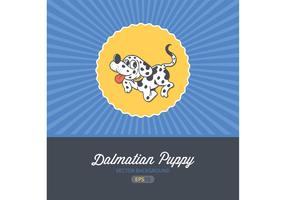 Free Vector Cartoon Dalmatian Puppy Card