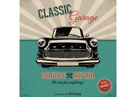 Free Vector Car Service Retro Poster