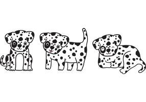 Free vector dalmatian puppy vector