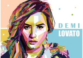 Demi Lovato Vector Portrait