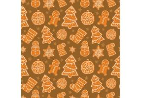 Free Christmas Dessert Vector Seamless Pattern