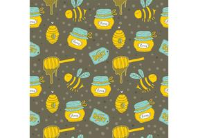 Free Honey Drip Vector Seamless Pattern