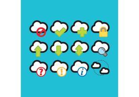 Bunte Cloud Computing Vektor Icons