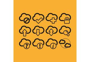 Cloud Computing Vektor Icons