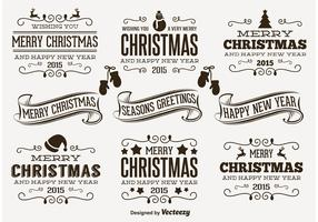 Retro Christmas Labels