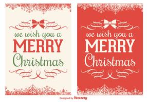 Christmas Card Vector Set