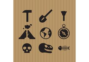 Archeology Icon Vectors