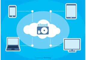 Cloud Computing Vector Background