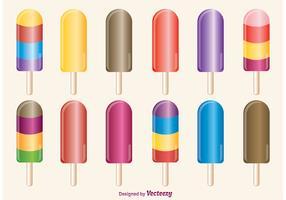 Ice Cream Pops Vectors