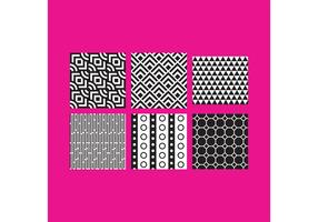 Simple B&W Pattern Vectors