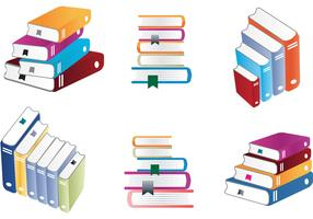 Colorful Stack of Books Vectors