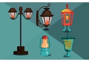 Gas Lamp Vectors