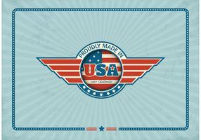 Free Made In USA Retro Vector Label