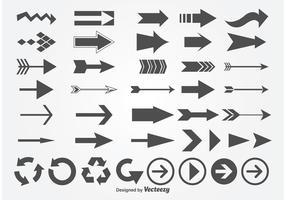 Conjunto de flechas vectoriales