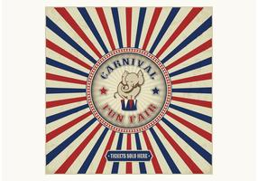 Free Vintage Carnival Fun Fair Vector Background