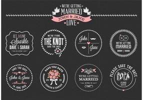 Free Chalk Save The Date Labels Vector