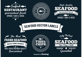 Seafood Vector Labels