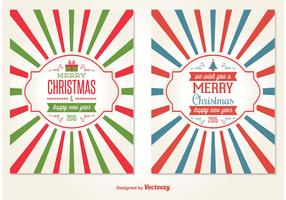 Retro Style Christmas Card Vectors