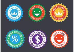 Free Colorful Vector Badge Set
